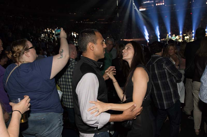 Fans dance at Billy Joel's concert at Madison Square Garden New York, NY May 28, 2015