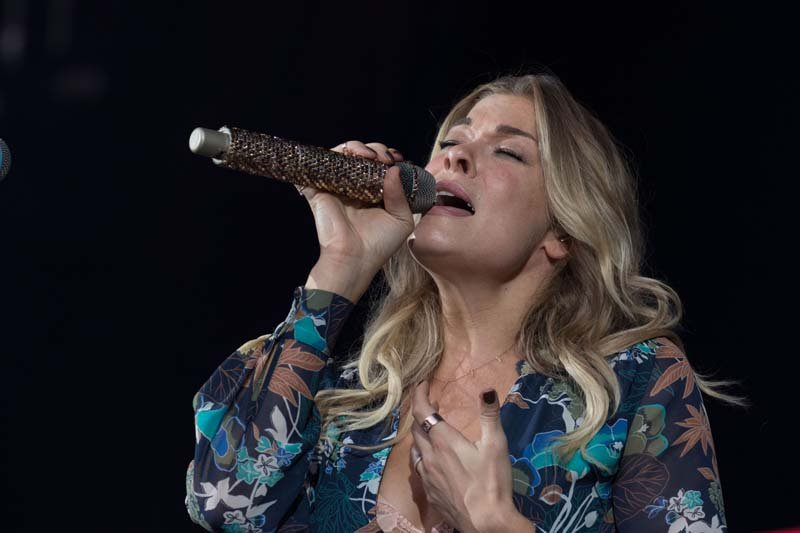 Leann Rimes opens before Billy Joel's concert at M&T Bank Stadium in Baltimore, MD, July 25, 2015