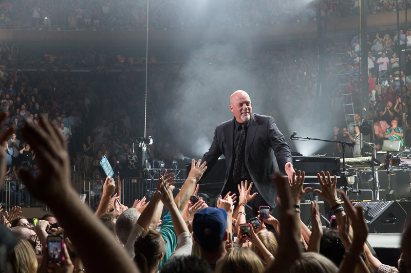 Billy Joel greets fans at Madison Square Garden August 20, 2015