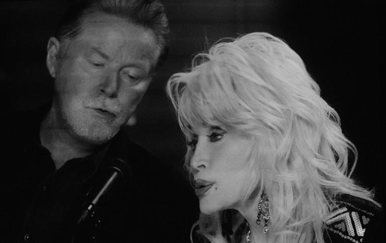 A scene from Don Henley and Dolly Parton duet When I Stop Dreamingfrom the album Cass County
