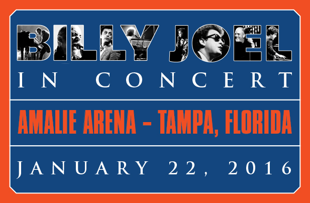Billy Joel at AMALIE Arena in Tampa, Florida January 22, 2016