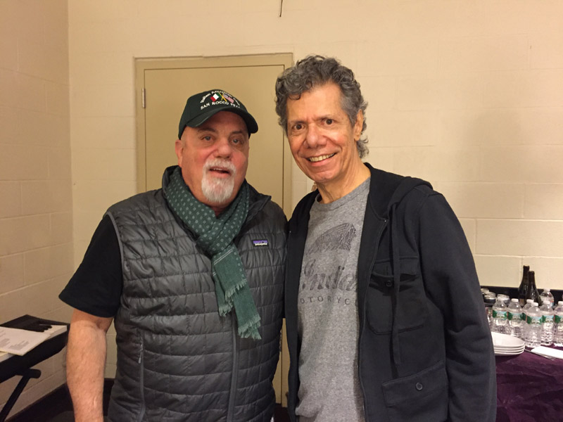 Billy Joel and Chick Corea backstage Madison Square Garden November 19, 2015