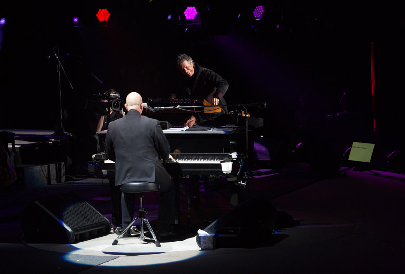 Chick Corea performs with Billy Joel at Madison Square Garden in New York, NY November 19, 2015