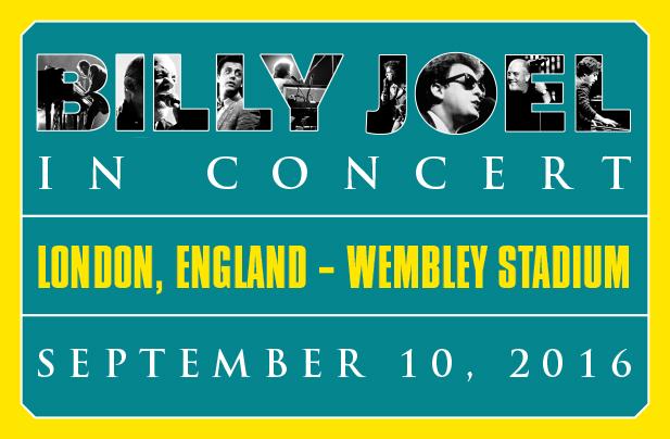 Billy Joel at Wembley Stadium September 10, 2016