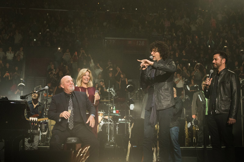 Billy Joel, Alexis Joel, Howard Stern and Jimmy Kimmel at BB&T Center New Year's Eve Sunrise, FL December 31, 2015