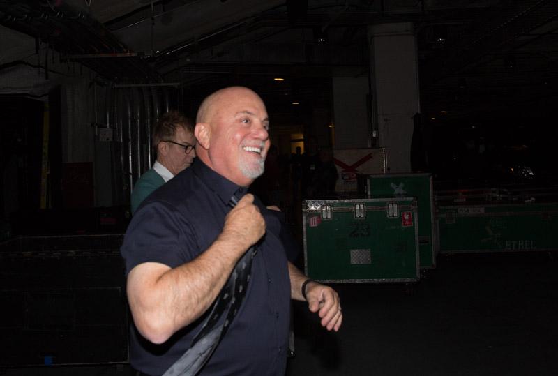 Billy Joel backstage Madison Square Garden in New York, NY January 7, 2016