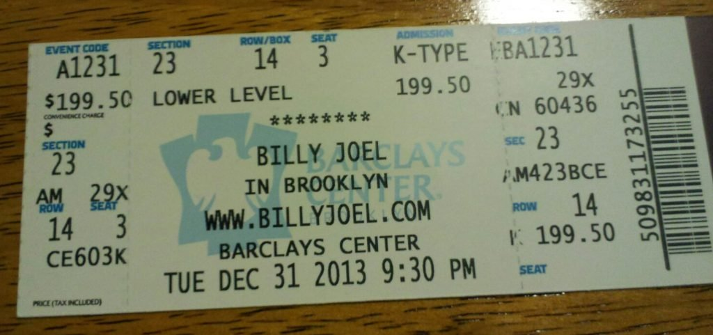 Barclays Center ticket