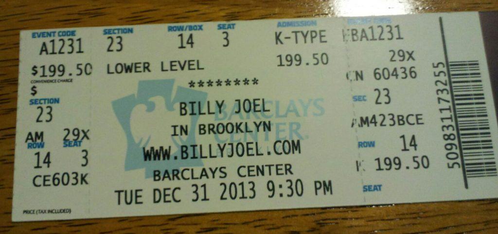 Barclays Center ticket