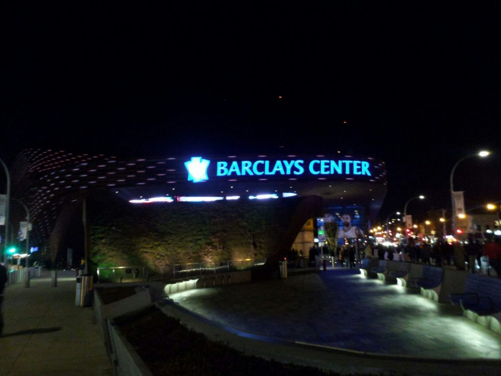 Barclays Center outdoor photo at night