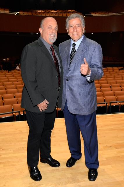 Billy Joel and Tony Bennett at the Frank Sinatra School of the Arts