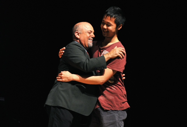 Billy Joel and a Student at the Frank Sinatra School of the Arts