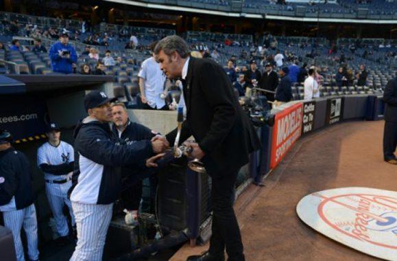 Mark Rivera Performs National Anthem At Yankee Stadium