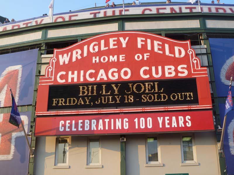 Billy Joel in Wrigley Field July 18th
