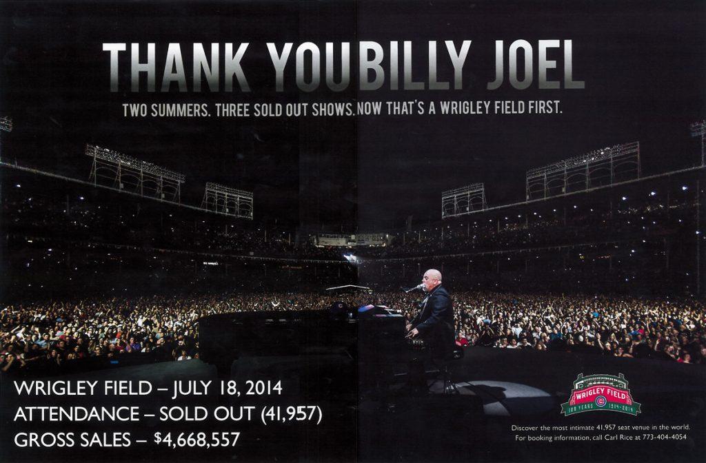 Thank You Billy Joel – A Wrigley First