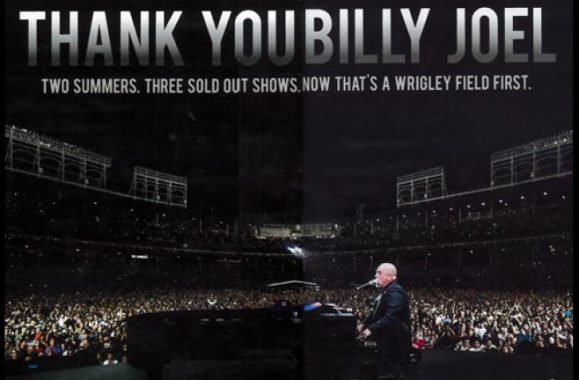Billy Joel MSG & Wrigley Ads In Billboard Magazine