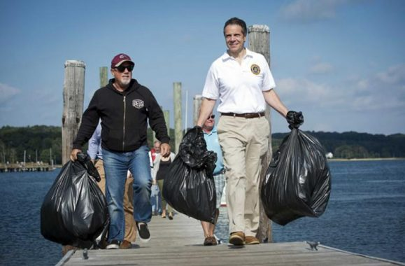 Billy Joel Joins Gov. Andrew M. Cuomo At 21st Annual Oyster Bay Beach And Harbor Cleanup