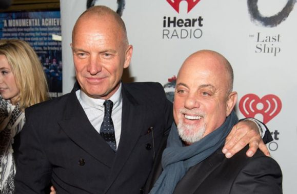 Sting And Billy Joel At Opening Night For 'The Last Ship'