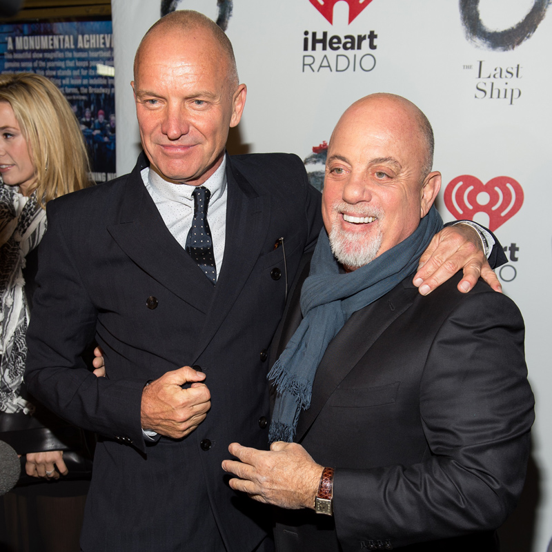 Billy Joel Attends Opening Night Of Sting's 'The Last Ship'