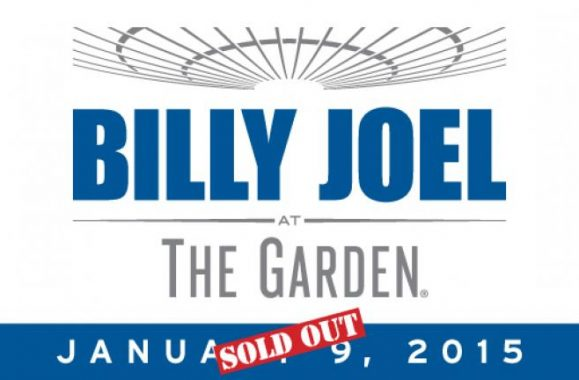 Billy Joel Announces 13th Consecutive Show At Madison Square Garden January 9, 2015