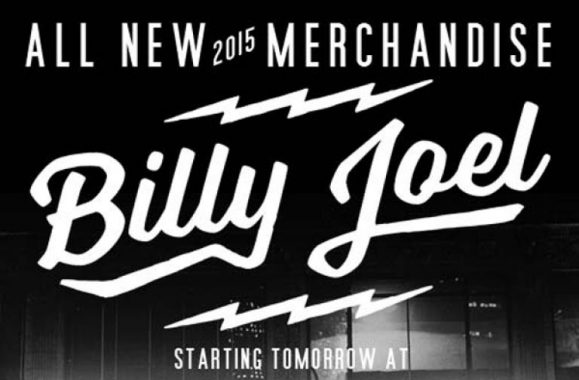 All New Billy Joel 2015 Merchandise