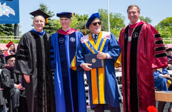 Billy Joel Congratulates Stony Brook University Class Of 2015 – Videos & Photos