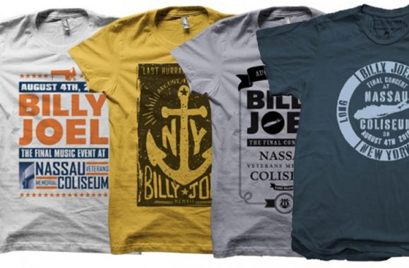 New Billy Joel Nassau Coliseum T-shirts & More!