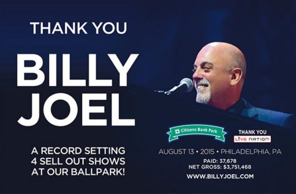 Billy Joel Holds Record For Sold-Out Concerts At Citizens Bank Park