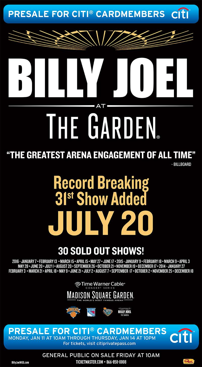 Billy Joel At Madison Square Garden New York Ny January 7 2016 Photo 80 Billy Joel
