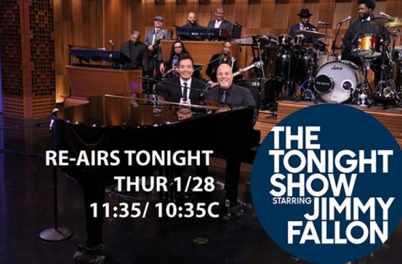 TUNE IN: Billy Joel On 'The Tonight Show Starring Jimmy Fallon' Re-Airs Tonight!