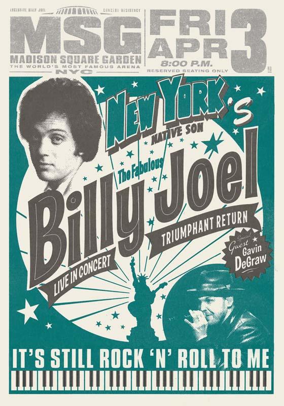 Billy joel at madison square garden new york ny april 3 - Billy joel madison square garden march 3 ...