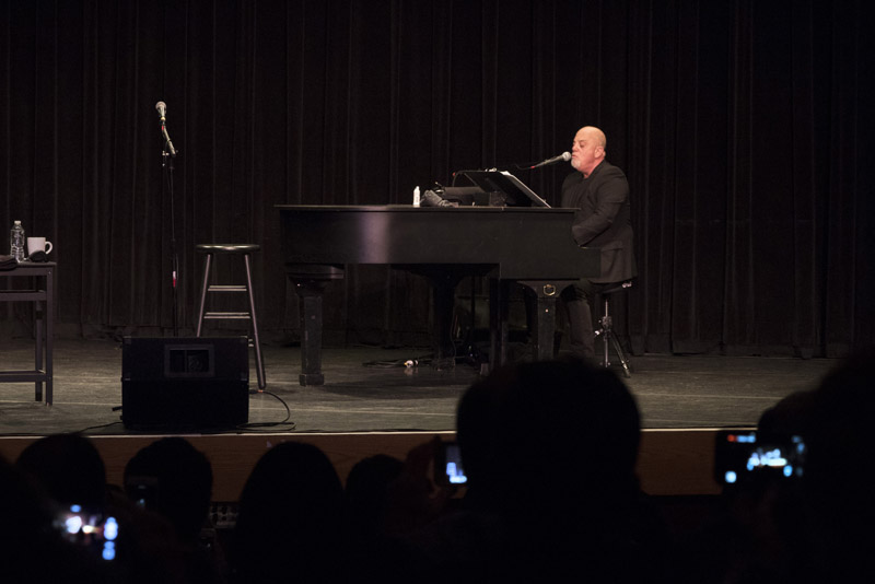Billy Joel performs at LIU Post Hillwood Recital Hall in Brookville, NY, on February 8, 2016