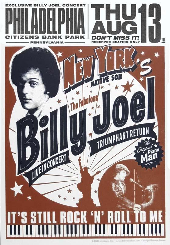 Billy Joel At Citizens Bank Park Philadelphia, PA – August 13, 2015 (Photo 84)