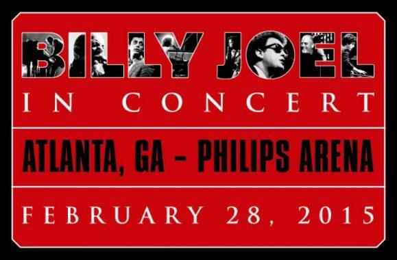 Billy Joel Back At Philips Arena Atlanta Saturday, February 28