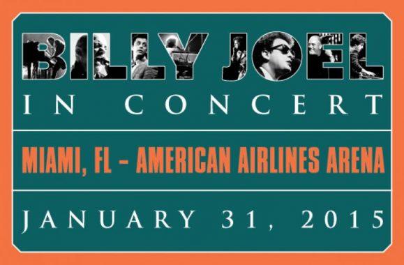 Billy Joel Announces Miami, FL Concert January 31, 2015