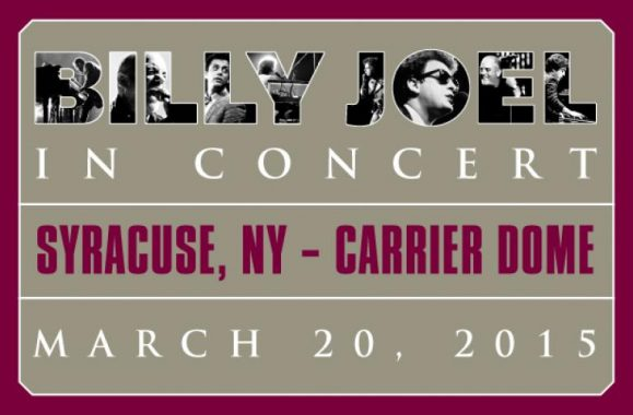 Billy Joel To Play Record-Breaking 7th Show At The Carrier Dome At Syracuse University March 20, 2015