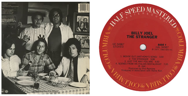 Billy Joel 52nd Street Back Cover