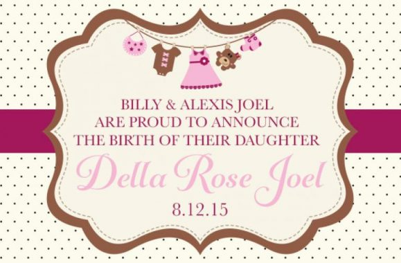 Billy & Alexis Joel Proudly Announce Birth Of Daughter Della Rose Joel