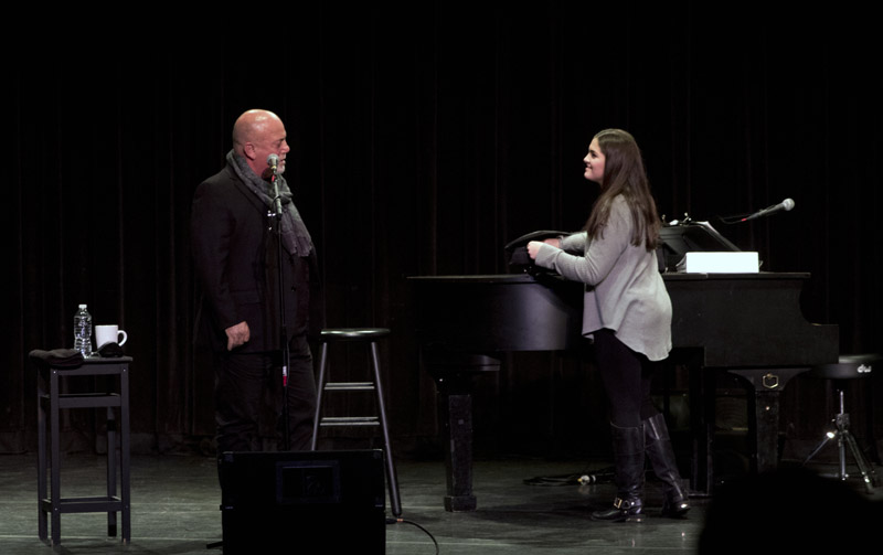 Jillian Rossi, Music student, Bellmore-Merrick CHSD, asks Billy Joel if she could sing one of her songs