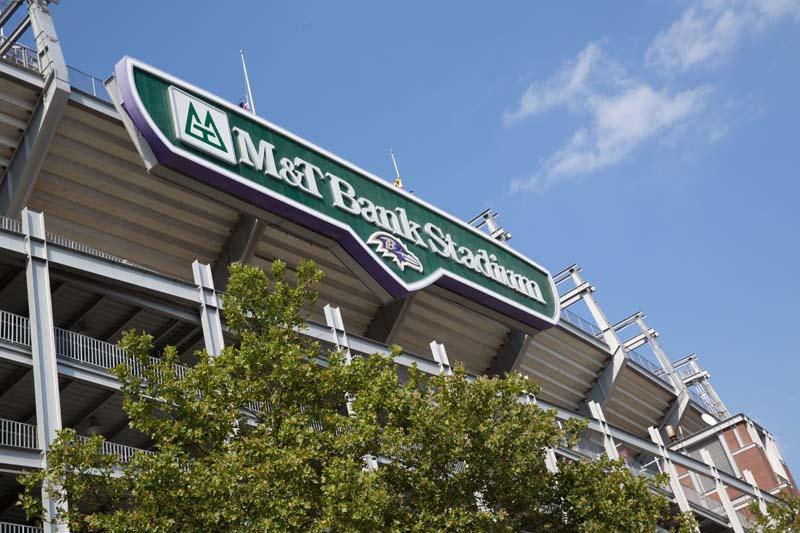View of M&T Bank Stadium, Baltimore 072515