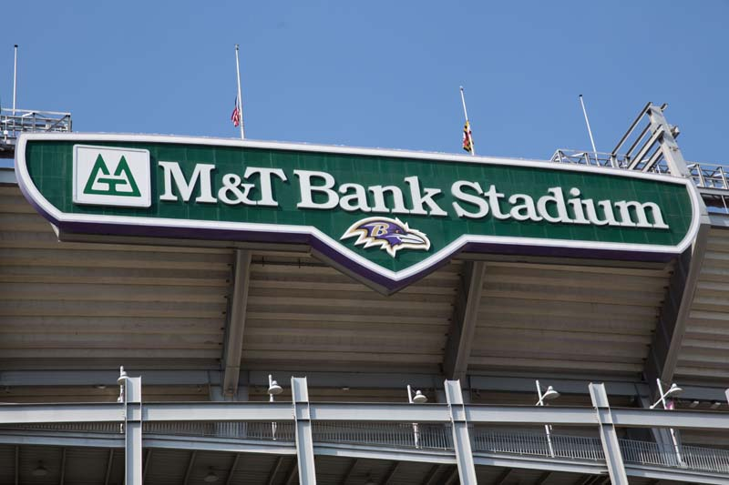 View of M&T Bank Stadium, Baltimore 072515
