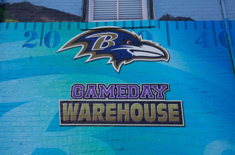 Wall painting near M&T Bank Stadium, Baltimore 072515