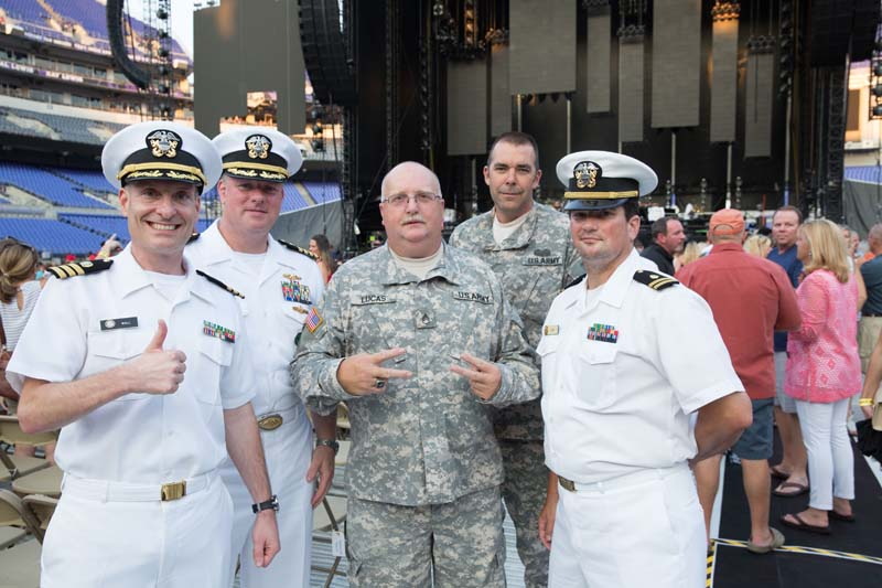 Military friends before the show M&T Bank Stadium, Baltimore 072515