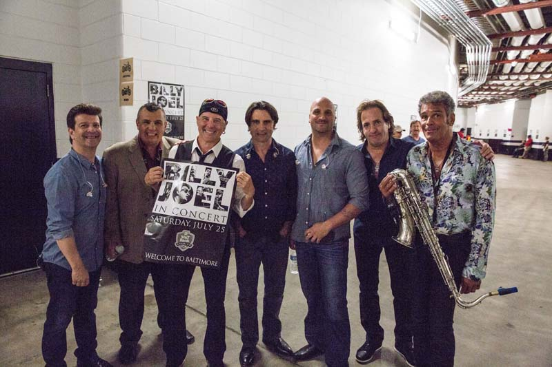 Members of the Billy Joel Band back stage M&T Bank Stadium, Baltimore 072515