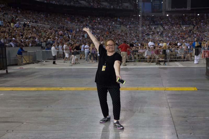 Annie Applegarth, band assistant, M&T Bank Stadium, Baltimore 072515