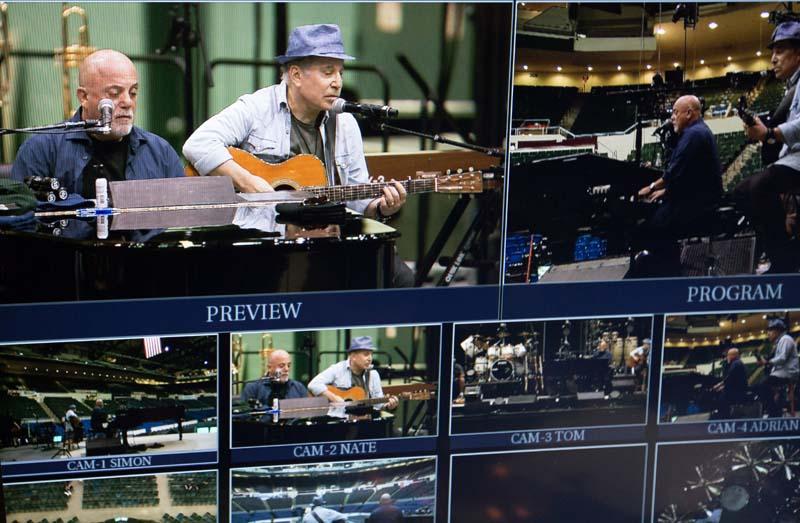 Video monitors Nassau Coliseum soundcheck