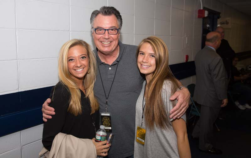 Brian Ruggles with his daughters backstage at Nassau