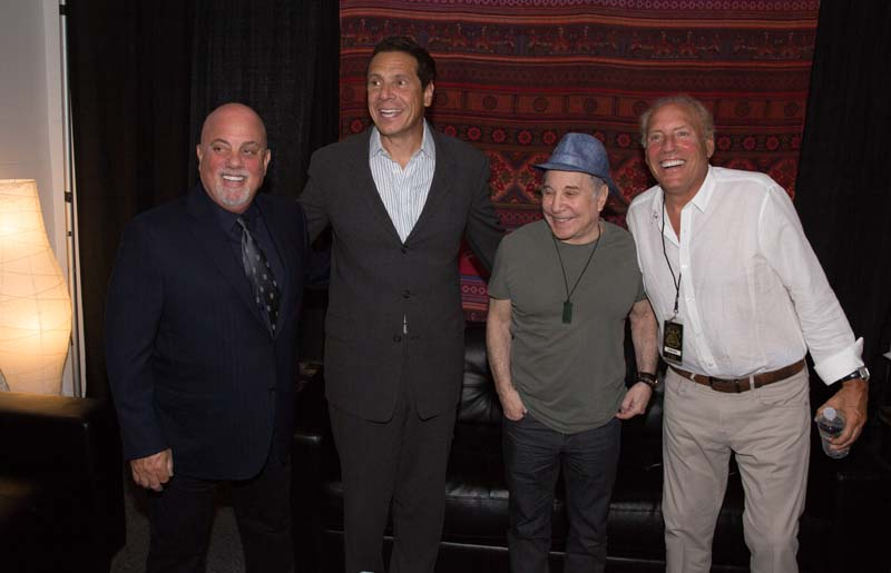 Billy Joel andrew Cuomo Paul Simon and Dennis Arfa
