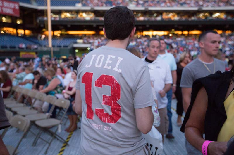 Fan with event shirt at Citizens Bank Park, August 13, 2015