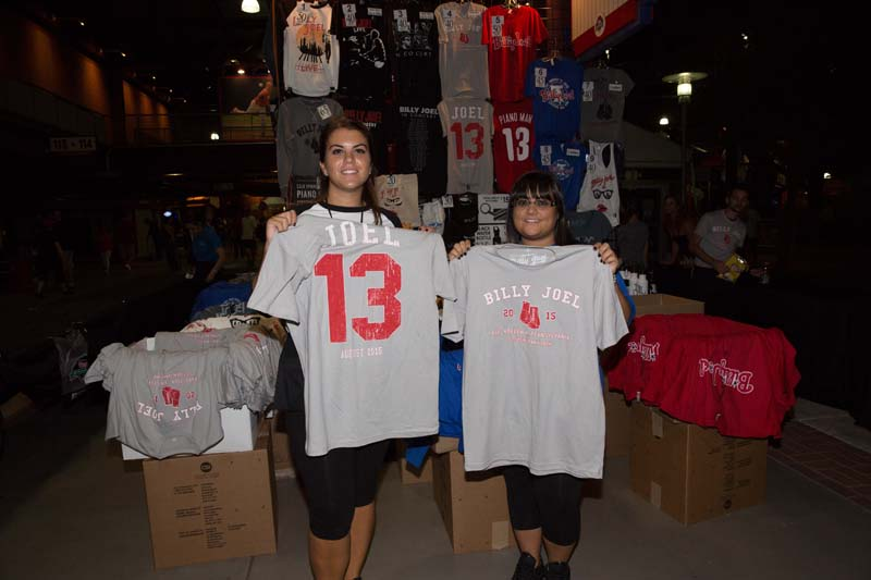 Ladies at the merch stand Citizens Bank Park, August 13, 2015