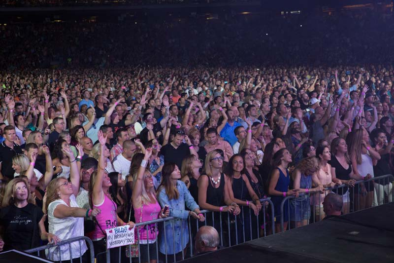 Audience  at Citizens Bank Park, August 13, 2015